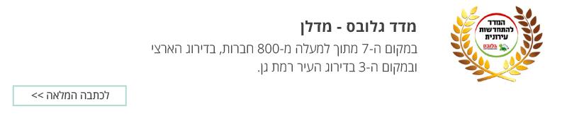 מדד גלובס – מדלן – בית וגג במקום ה-7 מתוך למעלה מ-800 חברות, בדירוג הארצי ובמקום ה-3 בדירוג העיר רמת גן